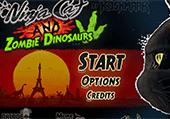 Jeu de clavier : Chat ninja contre dinosaures