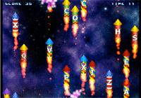 Tape les lettres sur les fusées